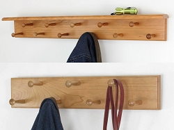 Double Row Peg Racks with or without Shelf