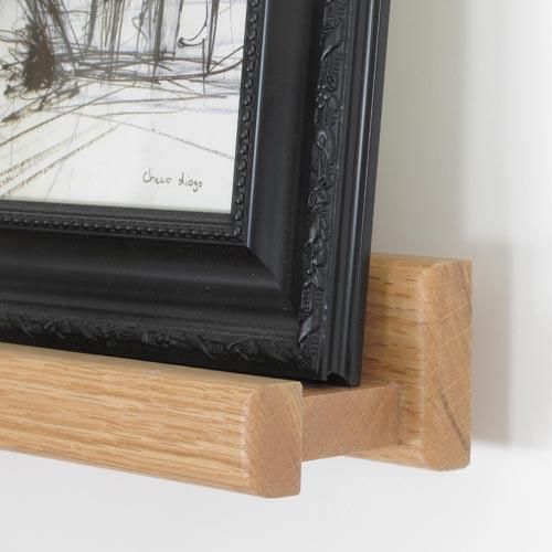 Deep Picture Ledge: Solid Oak Picture Ledges & Shelves