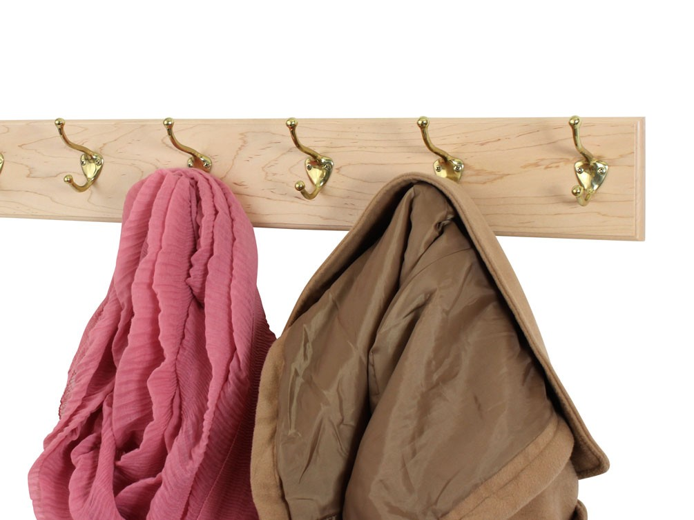 Solid Maple with Hat and Coat  Style Hooks