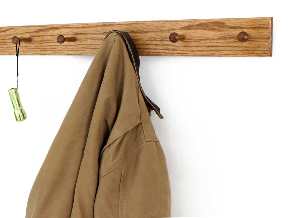 Oak peg Rack Golden oak
