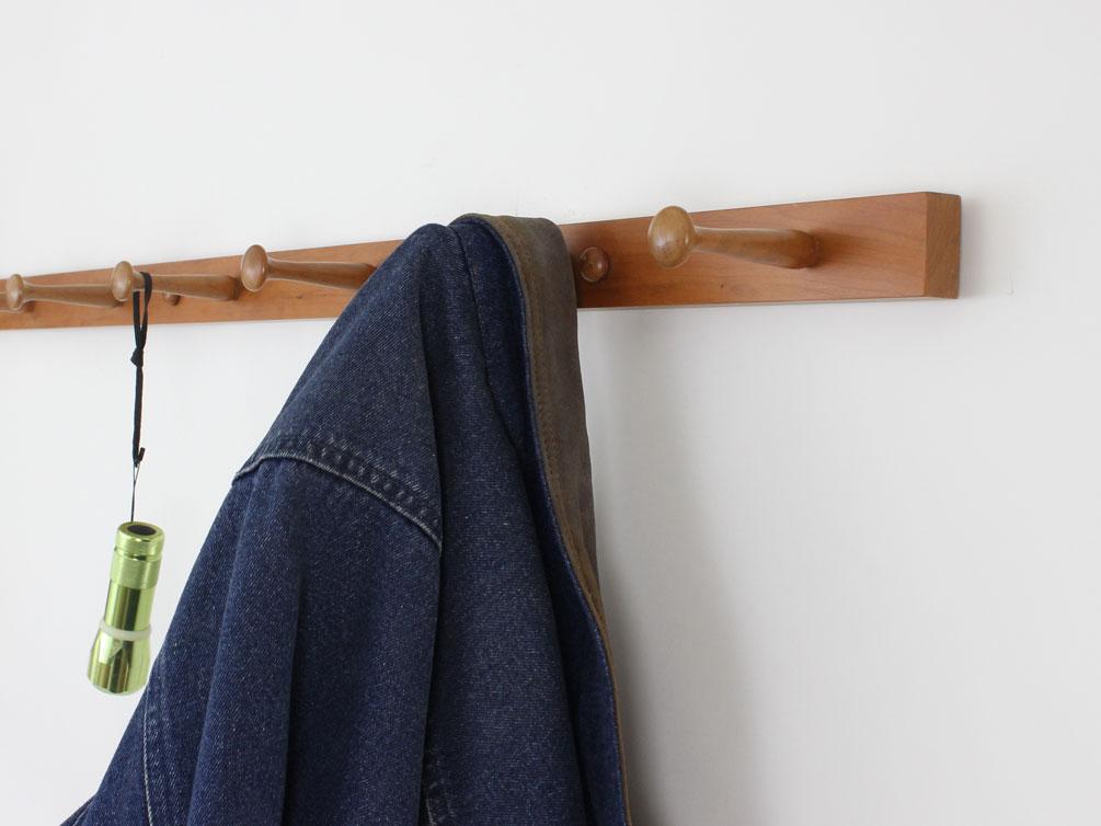 Narrow Cherry Shaker Peg Racks Made In The Usa