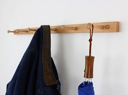 Narrow Oak Peg Rack
