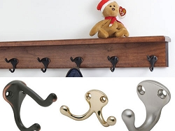 Solid Cherry Shelf Coat Racks With Hooks