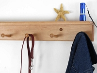 Maple Shelf Peg Rack
