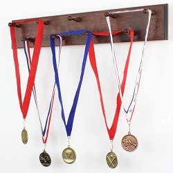 Solid Cherry Medal Display Rack