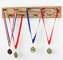 Solid Oak  Medal Display Rack