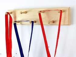 Solid Maple  Sports Medal Display Rack