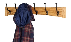 Craftsman Style Solid Oak  Wall Mounted Coat Rack