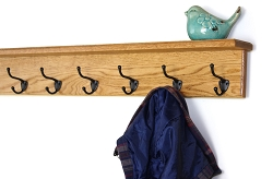 Solid Oak Shelf Coat Racks & Picture Ledges