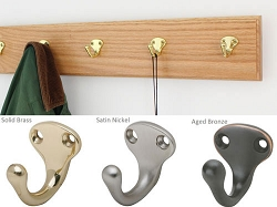 Solid Oak with Single Style  Hooks