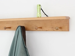 Cherry Shelf Peg Rack