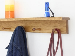 Oak Shelf Peg Rack