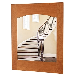 Solid Cherry Arched Back Craftsman Style Mirror  Made in The USA