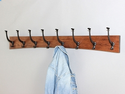Solid Cherry Arched Coat Rack