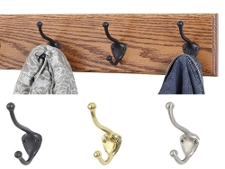 Solid Oak with Hat & Coat Style  & Mission  Hooks