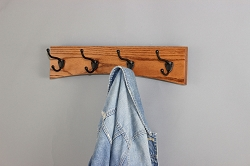 Solid Oak  Arched Coat Rack