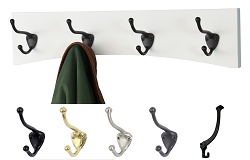 White Arched Back Coat Rack   -  Handcrafted in the USA