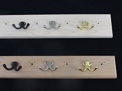 Unfinished Coat Racks With Double Style Hooks