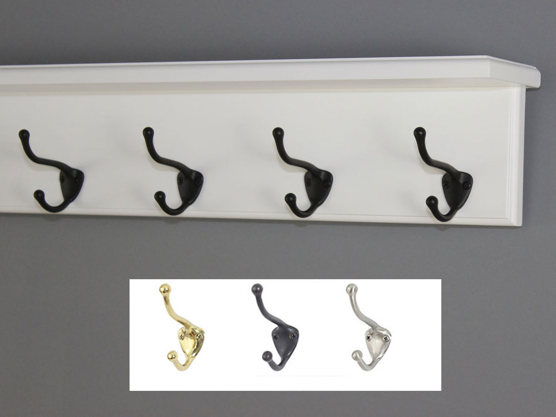 White Shelf Coat Rack - 4