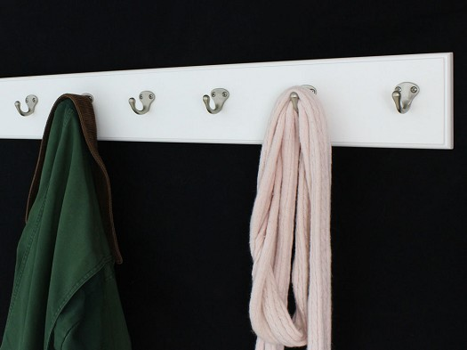 White  with Single Style Hooks