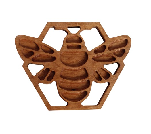 Honey Bee Trivet - Crafted From Solid Cherry  - Made in The USA.