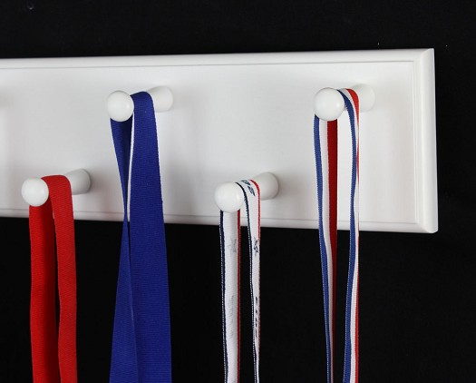 White Medal Display Rack