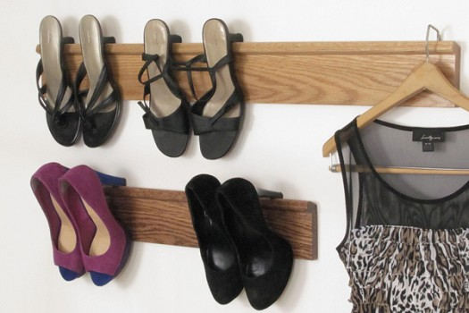 Solid Oak Shoe Racks
