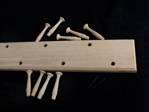 Unfinished Double Row Peg Racks